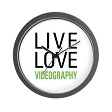 Live Love Videography Wall Clock