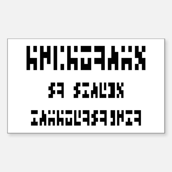 The Intergalactic Language Rectangle Decal