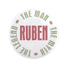 "Ruben the Man Myth Legend 3.5"" Button"