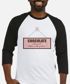 Chocolate Answer Baseball Jersey