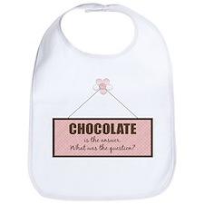Chocolate Answer Bib