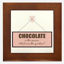 Chocolate Answer Framed Tile