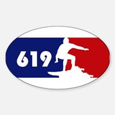 619 Surf Oval Decal