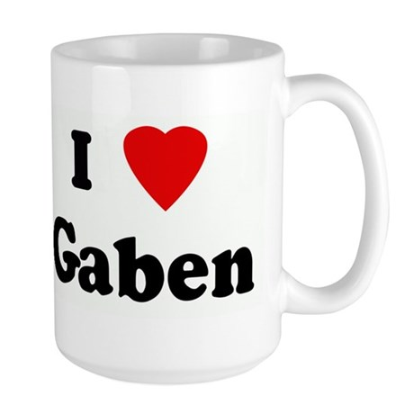 I Love Gaben Large Mug