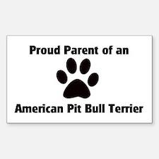 Proud Parent of a American Pi Sticker (Rectangular