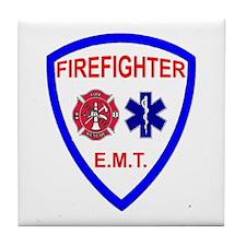 Unique Emt firefighter Tile Coaster