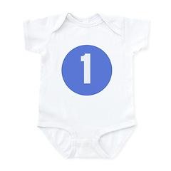 Age One Blue Circle Infant Creeper