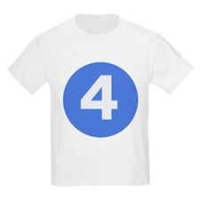 Age Four Tee - Big Kid Sizes (Blue)