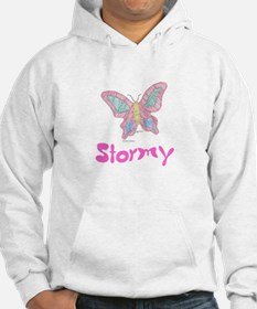 Pink Butterfly Stormy Hoodie