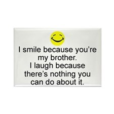 I Smile...Brother Rectangle Magnet (10 pack)