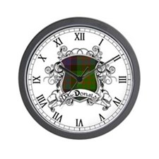 MacDonald Tartan Shield Wall Clock