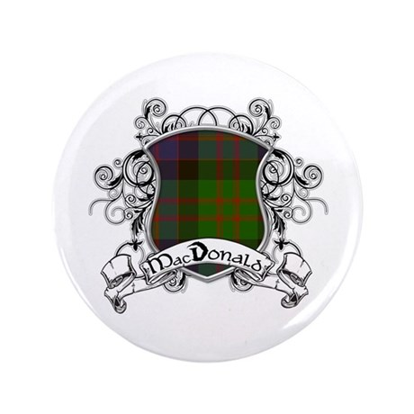 "MacDonald Tartan Shield 3.5"" Button"
