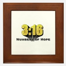Numbers of Hope John 3:16 Framed Tile
