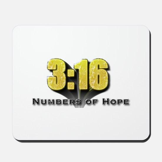 Numbers of Hope John 3:16 Mousepad