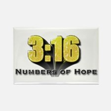 Numbers of Hope John 3:16 Rectangle Magnet