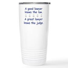 Good/Great Lawyer Stainless Steel Travel Mug