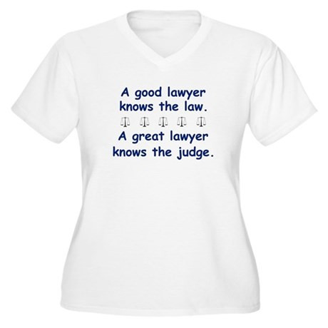 Good/Great Lawyer Women's Plus Size V-Neck T-Shirt