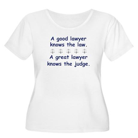 Good/Great Lawyer Women's Plus Size Scoop Neck T-S