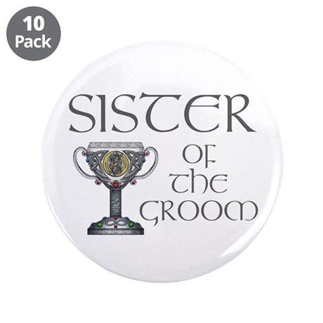 "Celtic Sister of the Groom 3.5"" Button (10 pack)"