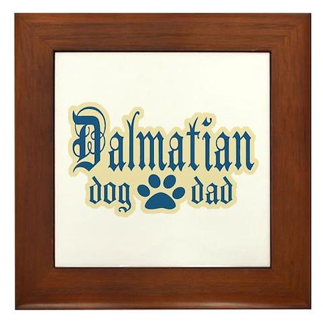Dalmatian Dad Framed Tile