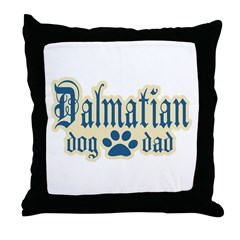 Dalmatian Dad Throw Pillow