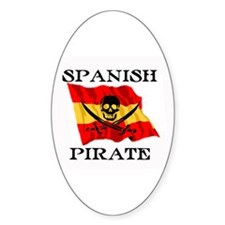 Spanish Pirate Oval Decal