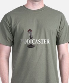 Podcaster -  Black T-Shirt
