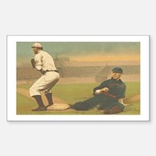 TOP Classic Baseball Sticker (Rectangle)