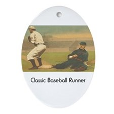 TOP Classic Baseball Ornament (Oval)