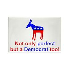 Perfect Democrat Rectangle Magnet