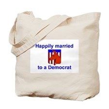 Married to a Democrat Tote Bag