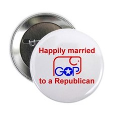 """Married to a Republican 2.25"""" Button (10 pack)"""