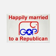Married to a Republican Rectangle Magnet