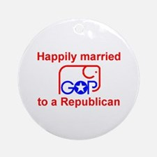 Married to a Republican Keepsake Ornament