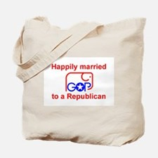 Married to a Republican Tote Bag