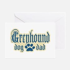 Greyhound Dad Greeting Card