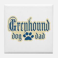 Greyhound Dad Tile Coaster