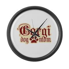 Corgi Mom Large Wall Clock