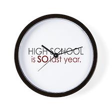 Funny High School Grad Wall Clock
