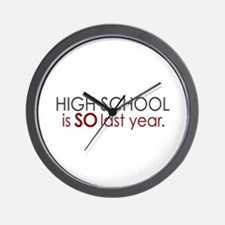 Funny High School Grad Wall Clock