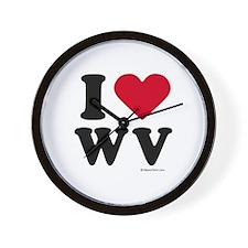 I Love West Virginia ~  Wall Clock
