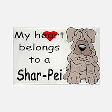 My Heart Shar Pei Rectangle Magnet