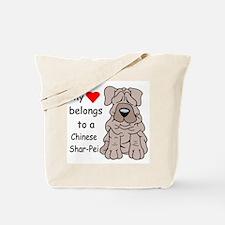 My Heart Shar Pei Tote Bag