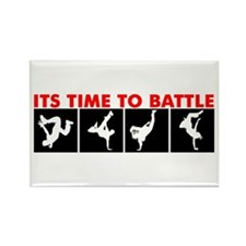 Breakdance Battle Rectangle Magnet