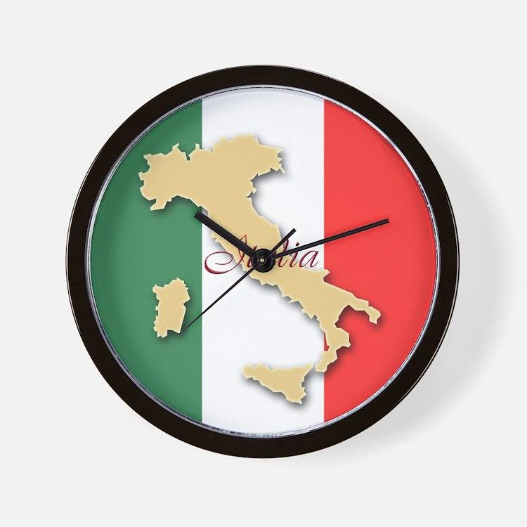 Italia (Italy Map) Wall Clock