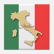 Italia (Italy Map) Tile Coaster
