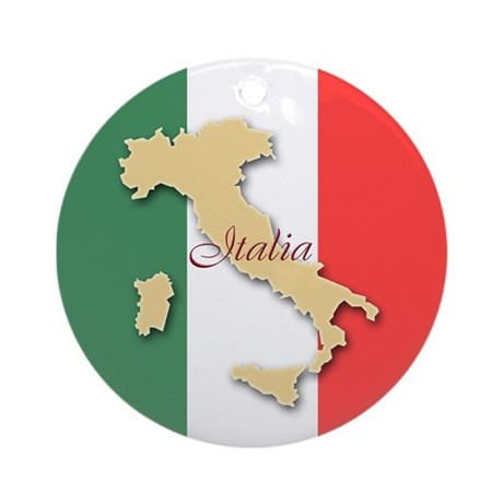 Italia (Italy Map) Ornament (Round)