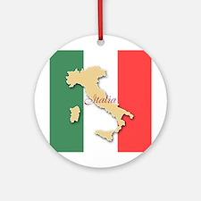 Italia (Italy Map) Ornament (Round)