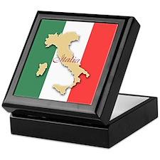 Italia (Italy Map) Keepsake Box
