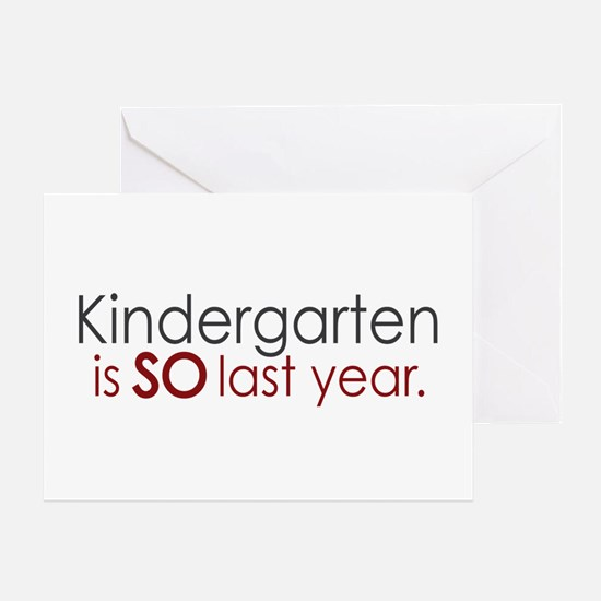 Funny Kindergarten Grad Greeting Card